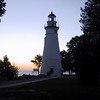 Marblehead Lighthouse at dawn.